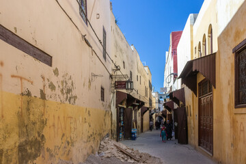 Africa Morocco city Meknes old town ancient heritage Islamic culture narrow streets traditional architecture