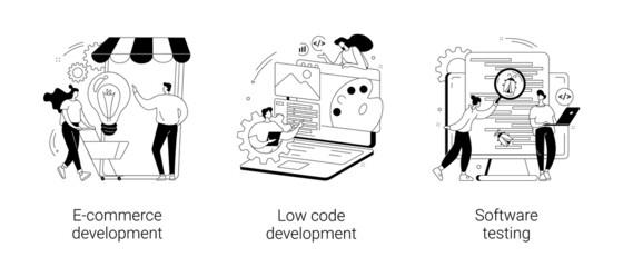 Fototapeta Application software abstract concept vector illustrations. obraz