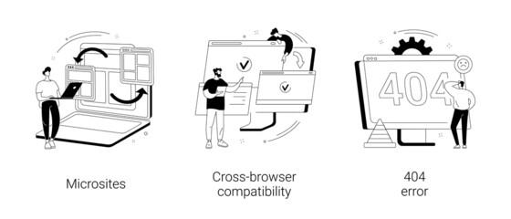 Fototapeta Web development abstract concept vector illustrations. obraz