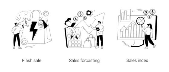 Fototapeta Retail profit plan abstract concept vector illustrations. obraz