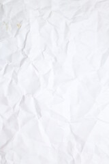 Fototapeta crumpled paper texture background. crush paper so that it becomes creased and wrinkled, Blank white crumpled and creased paper poster texture background, White crumpled paper texture  obraz