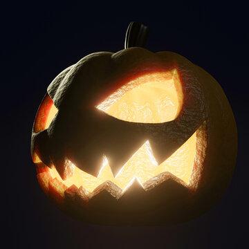 Halloween pumpkin isolated on black