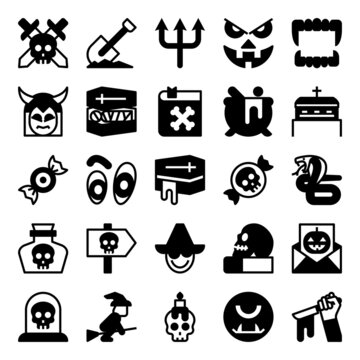 Glyph icons for halloween.