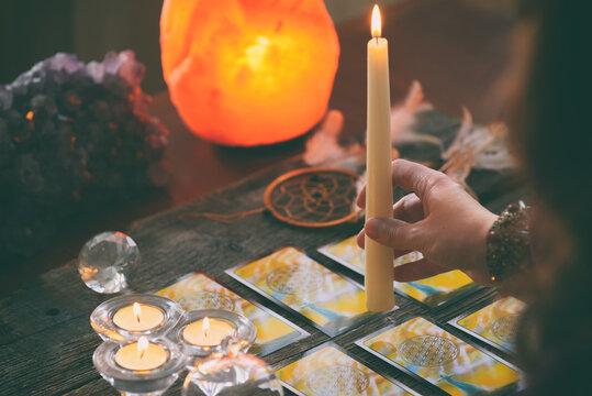 Tarot cards and dowsing