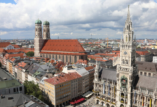 Panorama of Munich City from above