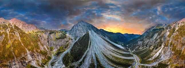 Obraz aerial of the Alps in Verdans Austria - fototapety do salonu