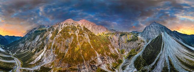 Obraz 360° aerial of the Alps in Verdans Austria - fototapety do salonu
