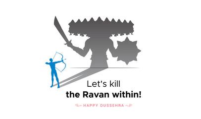 Fototapeta Wish you all a very happy dussehra durga puja and navratri poster banner design obraz