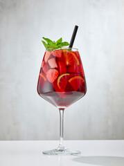 Fototapeta glass of sangria obraz