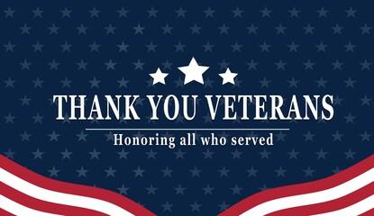 Fototapeta Happy Veterans Day with American flag obraz