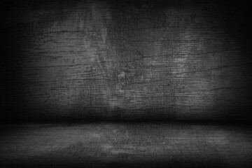 light and dark gray wall and brown wooden floor decoration for textured background.