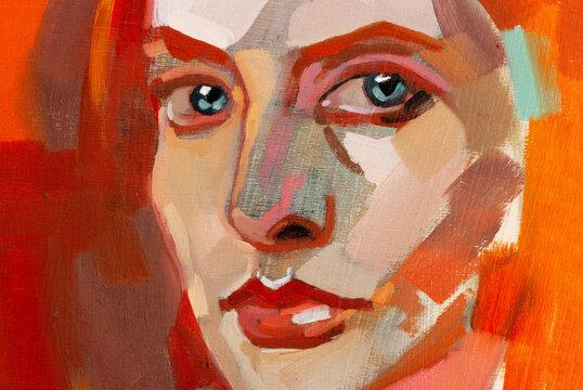 Unfinished woman portrait