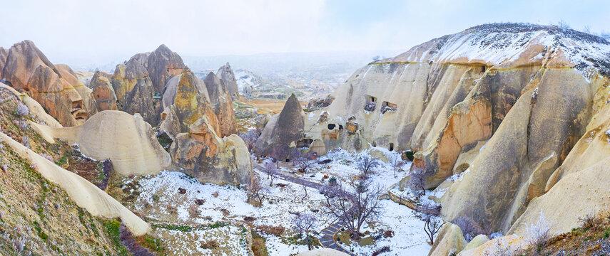 The valley among the rocks, Cappadocia, Turkey