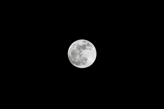 View of the super moon.
