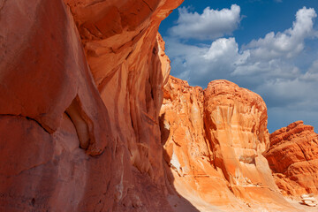 Red canyon in the Egyptian desert