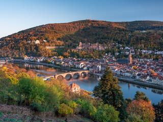 Obraz Heidelberg in autumn season, Baden-Wuerttemberg, Germany - fototapety do salonu