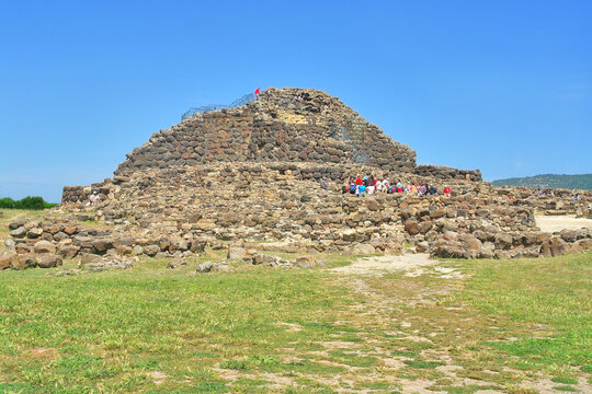 Su Nuraxi  - a nuragic archaeological site in Barumini, Sardinia, Italy.