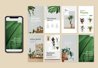 Fototapeta Editable Florist Layouts for Social Media obraz