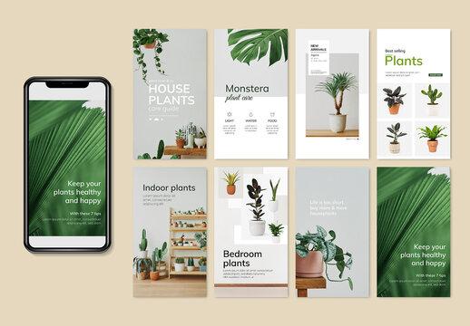 Editable Florist Layouts for Social Media