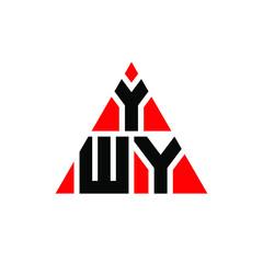 Fototapeta YWY triangle letter logo design with triangle shape. YWY triangle logo design monogram. YWY triangle vector logo template with red color. YWY triangular logo Simple, Elegant, and Luxurious Logo. YWY  obraz