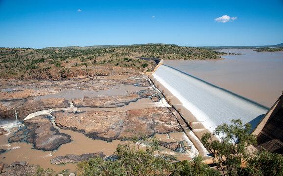 Burdekin Dam on lake Dalrymple central ,Queensland, Australia..