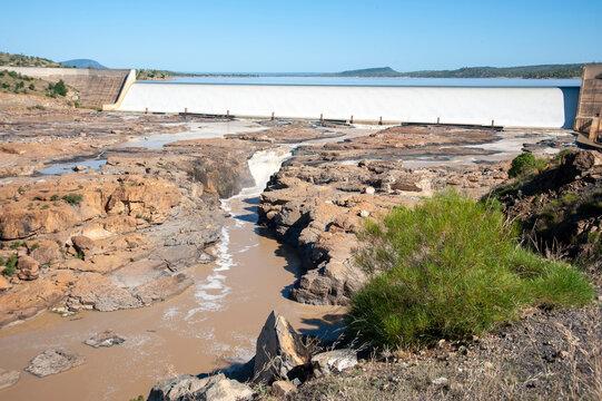 Burdekin Dam on lake Dalrymple central ,Queensland, Australia.