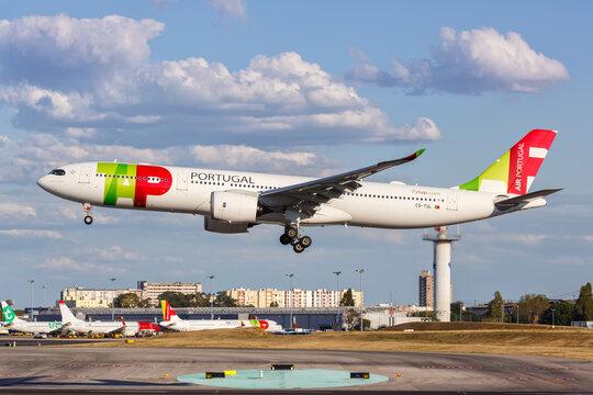 TAP Air Portugal Airbus A330-900neo airplane Lisbon airport in Portugal