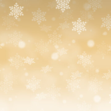 Christmas background pattern card golden Gold wallpaper with copyspace copy space square