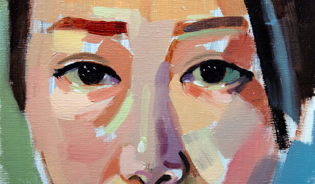 Eyes of an asiatic woman