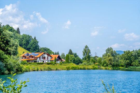 Sonthofer See, Sonthofen, Allgäu, Bayern, Deutschland