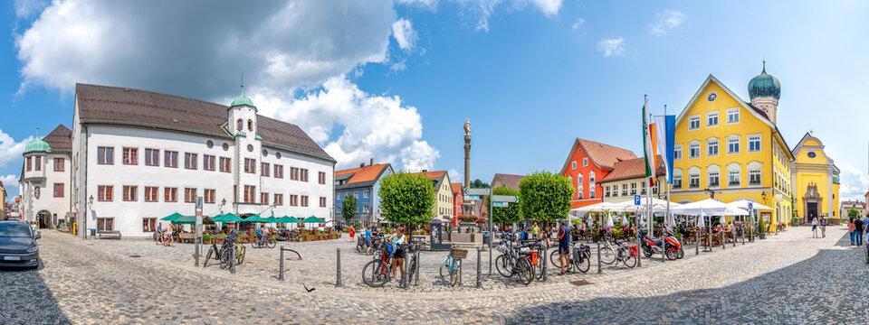 Marktplatz, Immenstadt im Allgäu, Bayern, Deutschland