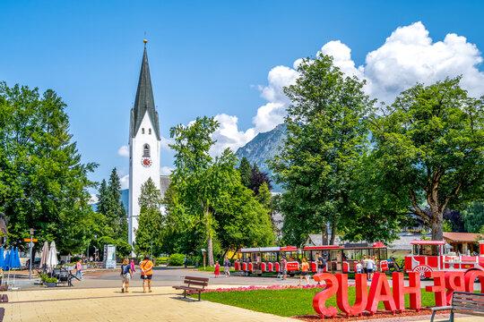 Kirche, Oberstdorf, Allgäu, Deutschland
