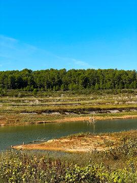 Gaia River at El Catllar reservoir, in Spain