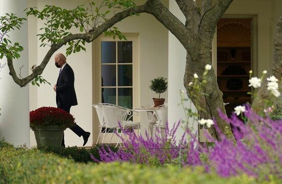 President Biden departs the White House in Washington