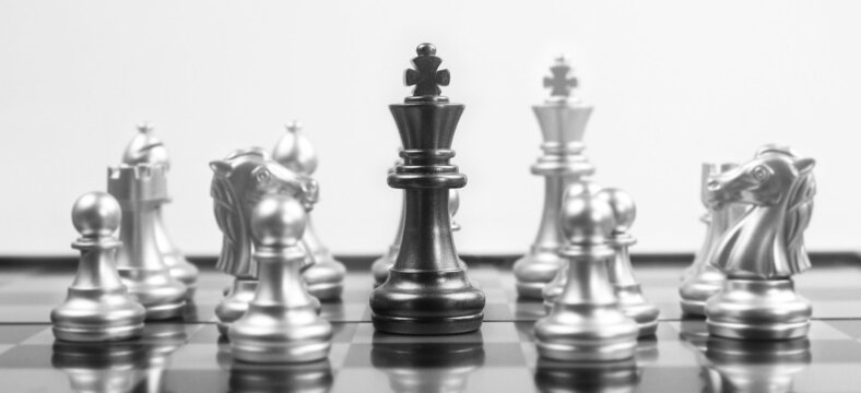 Chess board game concept of business ideas and competition  strategy concept