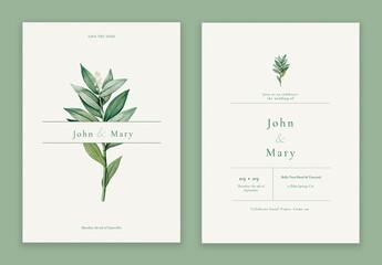 Fototapeta Flower Wedding Invitation Card Layout obraz