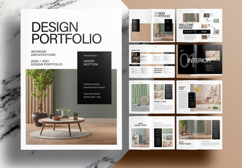 Fototapeta Modern Interior Portfolio Layout obraz