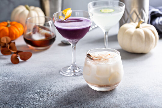 Fall cocktails, cinnamon horchata in a glass with cinnamon stick