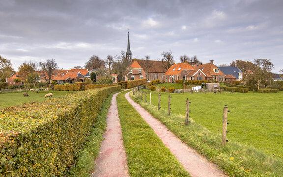 Street in historic village of Niehove