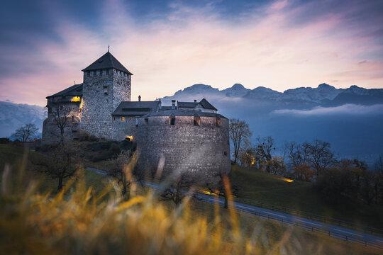 Vaduz Castle at sunset - Vaduz, Liechtenstein