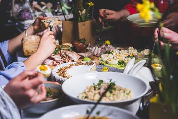 Fototapeta Jedzenie w restauracji. obraz