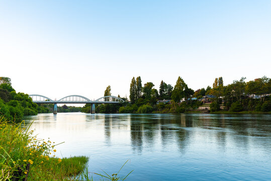 Waikato River with Fairfield Bridge in the background