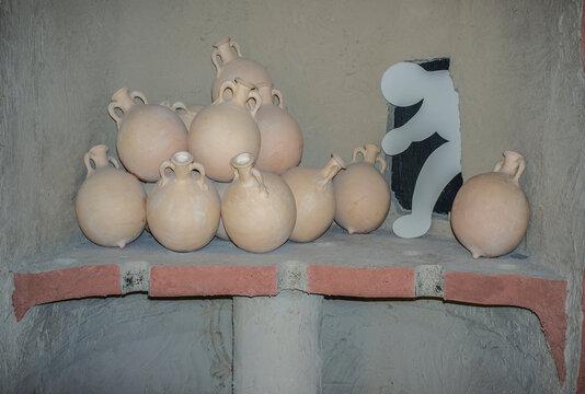 Olearia amphorae oven indoor or Kiln