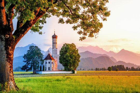 Sankt Coloman Kirche, Schwangau, Bayern, Deutschland
