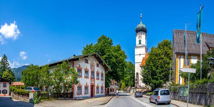 Sankt Peter und Paul Kirche, Oberammergau, Bayern, Deutschland