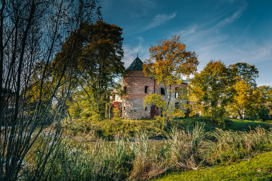 A historic castle in central Poland, in the village of Modliszewice.