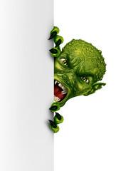 Obraz Zombie Monster Vertical Banner - fototapety do salonu