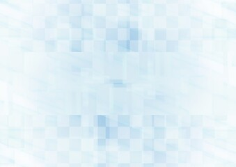 Obraz 透明感のある青色の幾何学的な抽象背景 - fototapety do salonu