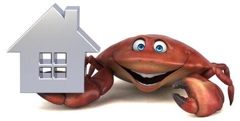 Obraz Fun crab - 3D Illustration - fototapety do salonu