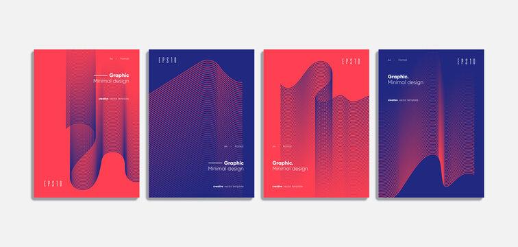 Geometric covers design. Annual report template.
